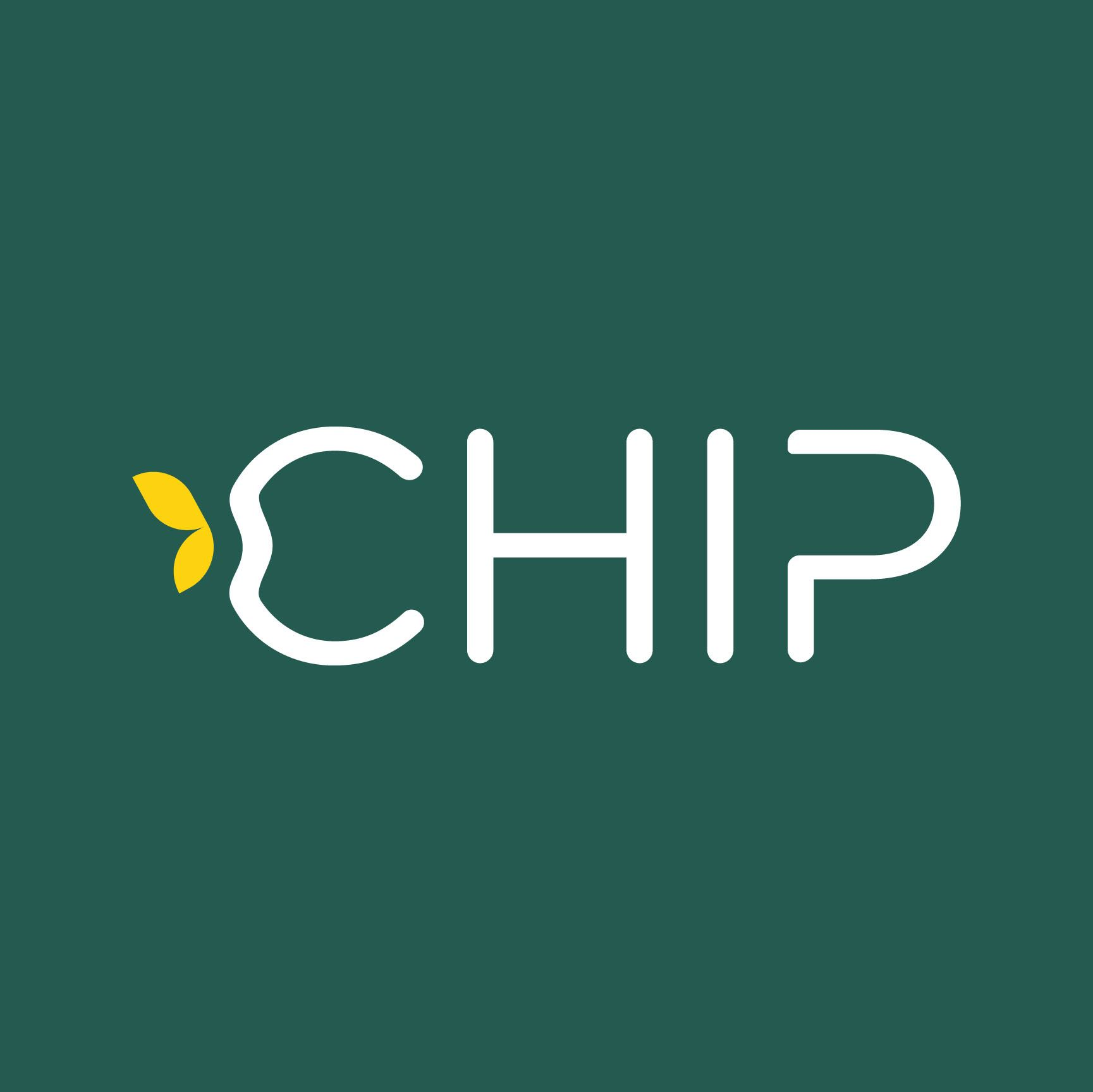 CHIP_LOGO_WHITE Sq on GrnBkgrnd