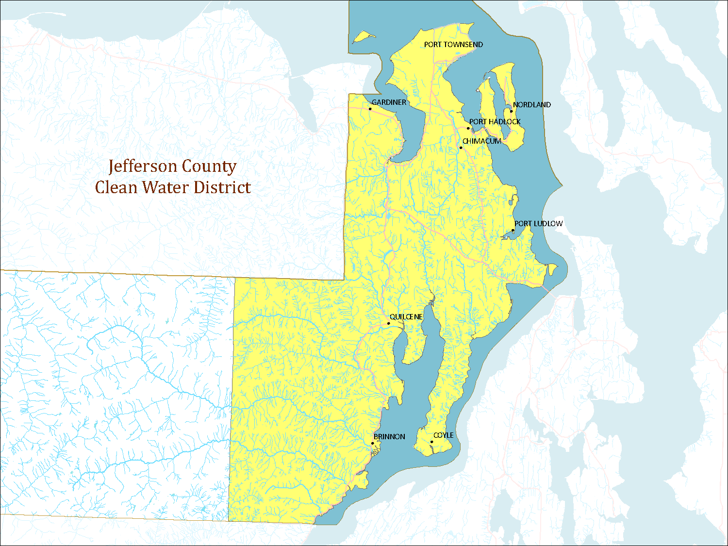 Clean Water District map