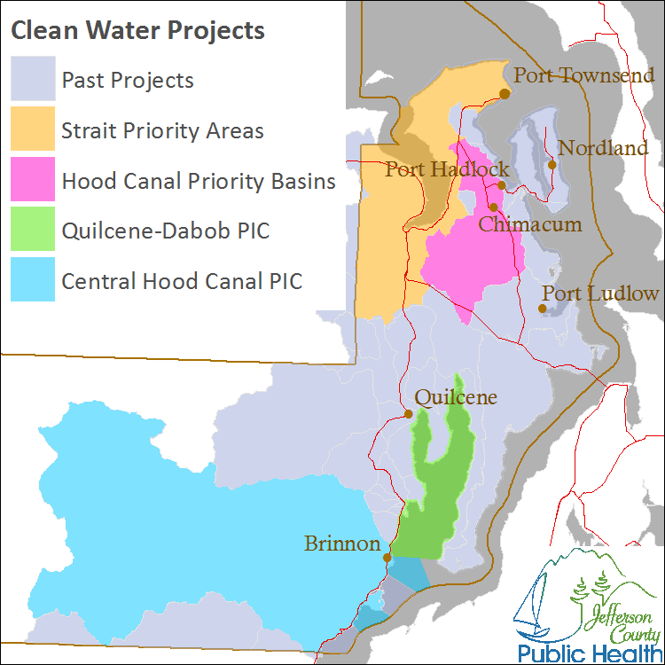Clean Water Projects map