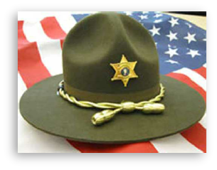 Sheriff Hat on American Flag